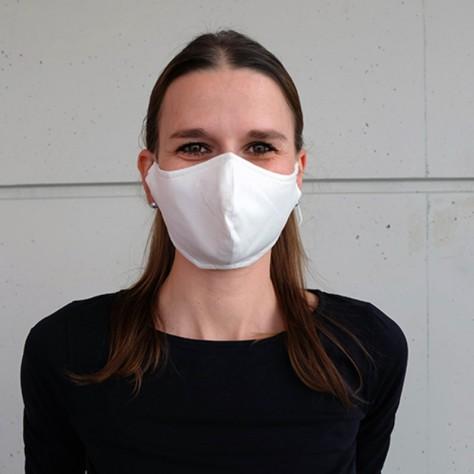 Masque de protection en coton, blanc ou noir, non imprimé