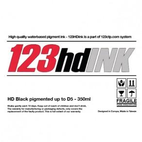 123HDink Black pigmented cartridge 350ml