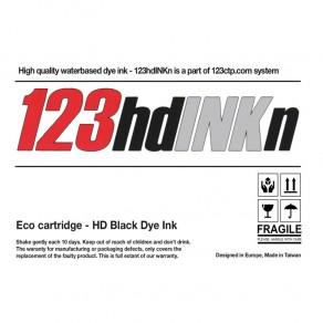 123HDinkN - Black HD Dye Ink Cartridge - 350 and 700ml